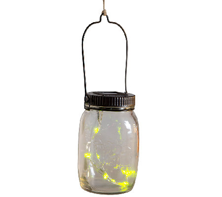 Plow & Hearth Solar Firefly Jar Decorative Outdoor Light