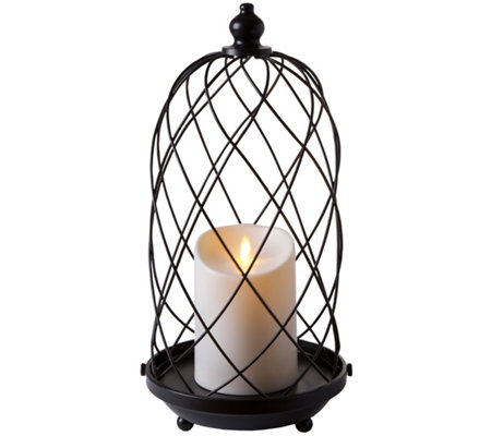 "Luminara 15"" Birdcage with Removable Candle"