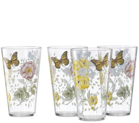 Lenox Set of 4 Butterfly Meadow Highball Glasses