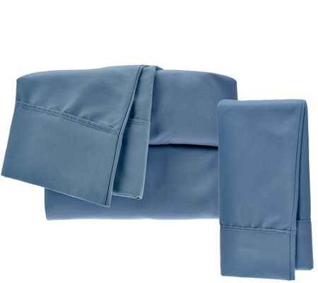Serta SuperSoft Microfiber TXL Sheet Set with Nanotex and Extra Case