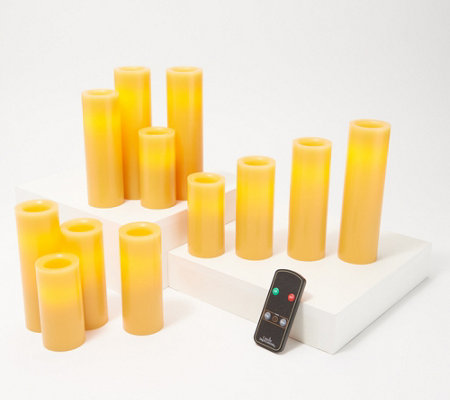 Candle Impressions Set of 12 Assorted Slim Pillar Candles