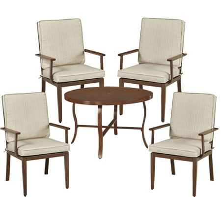 Key West 5-Piece Round Outdoor Dining Table & 4Chairs