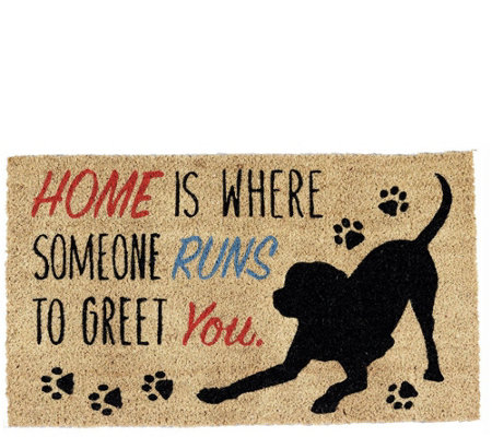 Dog Home Natural Coir Doormat With Nonslip Back