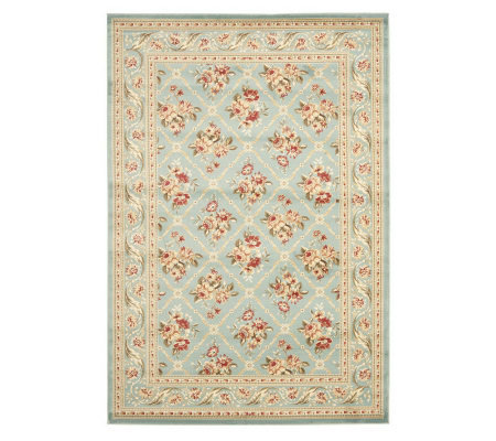 Lyndhurst Floral Lattice Power Loomed 8' x 11'Rug