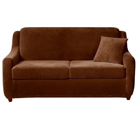 Sure Fit Strech Pearson 3 Piece Queen Sleeper Sofa Slipcover — QVC