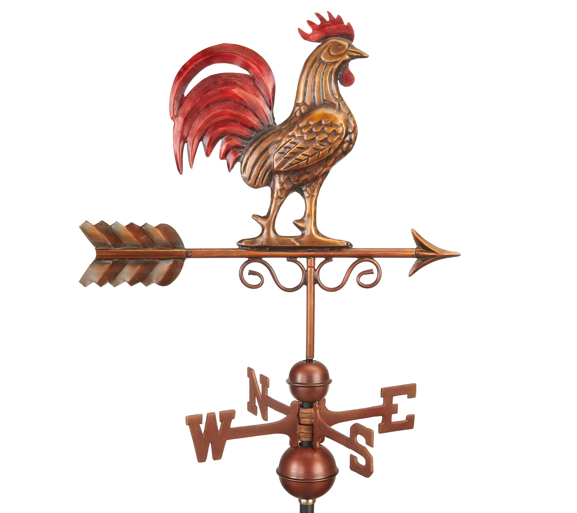 Bantam Rooster Weather Vane Hand Finished Bygood Directions Qvc Com