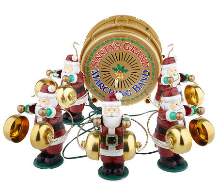 mr christmas 75thanniversary santas musical bells marching band