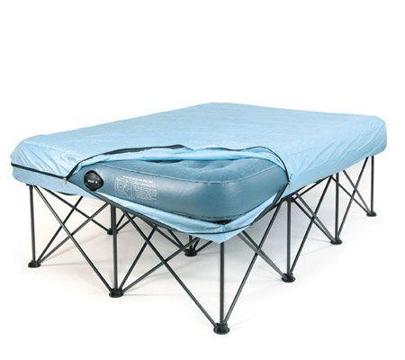 Queen Portable Bed Frame For Air Filled, Instant Bed Frame Queen Size