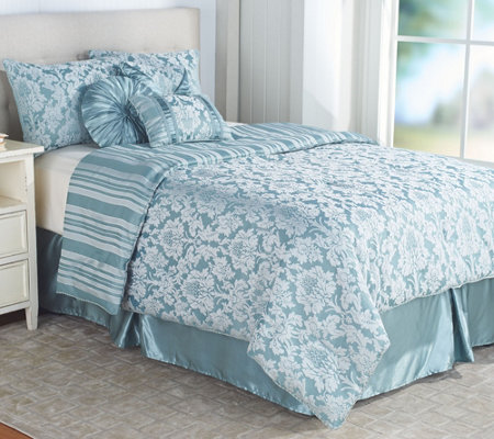 qvc bedroom sets northern nights jacquard reversible 7 13033