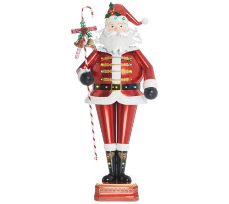 "Kringle Express Indoor/ Outdoor 52"" Illuminated Oversized Santa"