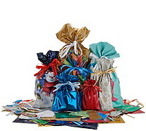 Kringle Express 70-Piece Drawstring Gift Bag Set with Tags - H215737