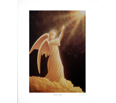 Guiding Angel Print by Artist of Hope, Steven Lavaggi