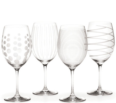 Mikasa Set of 4 Red Wine Glasses - Cheers Collection