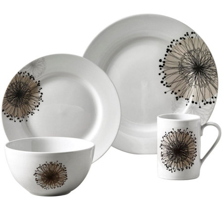 Tabletops Gallery 16-Piece Dinnerware Set - Amanda