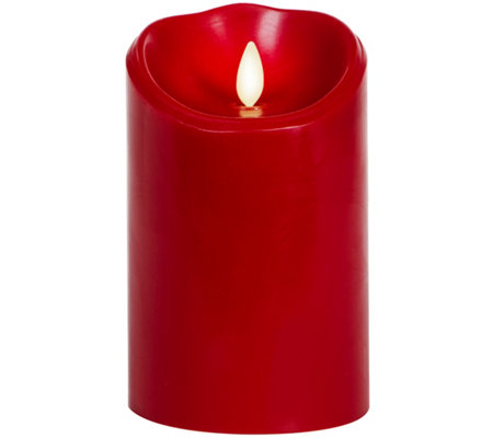 "Luminara 5"" Burgundy Flameless Candle"