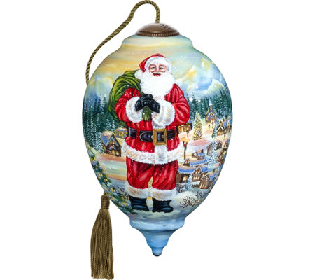 Ltd Edition Santa Claus is Coming to Town Ornament by Ne'Qwa
