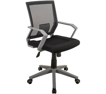 Techni Mobili Rolling Padded Mesh Office Task Chair w/ Arms