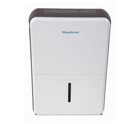 Keystone 70 Pint Dehumidifier In White Gray