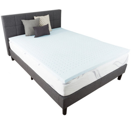 "Bluestone Gel-Infused 2"" Twin Memory Foam Mattress Topper"
