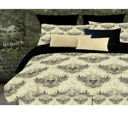Veratex Winged Skull Queen Comforter Set