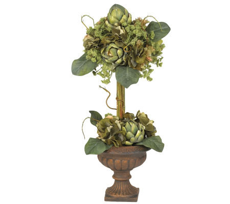 Artichoke Topiary Flower Arrangement by NearlyNatural