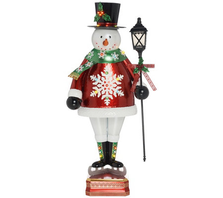 "Kringle Express Indoor/Outdoor 50"" Oversized Illuminated Snowman"