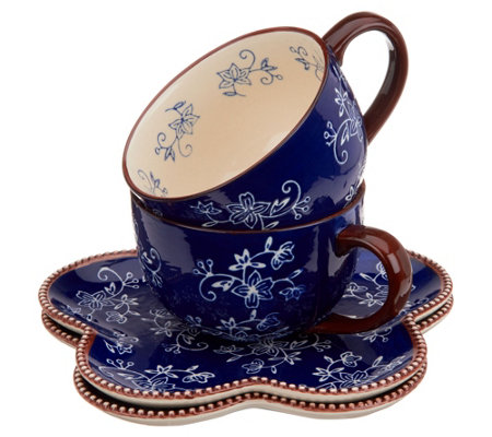 """As Is"" Temp-tations Floral Lace Soup and Sandwich Set"