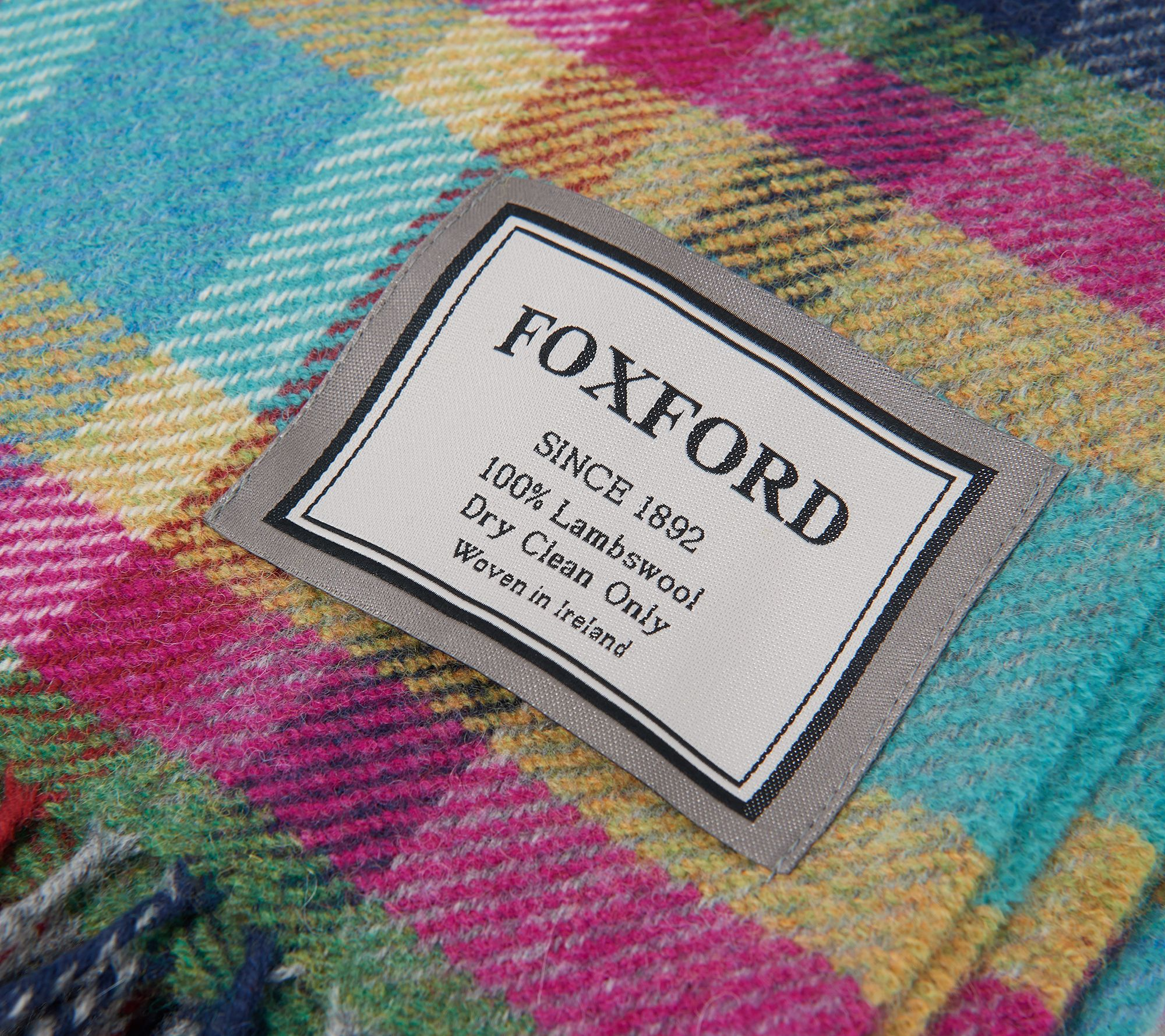 140 cm x 180 cm Foxford Oxford Rouge Réversible à Pois 100/% Lambs Wool Throw