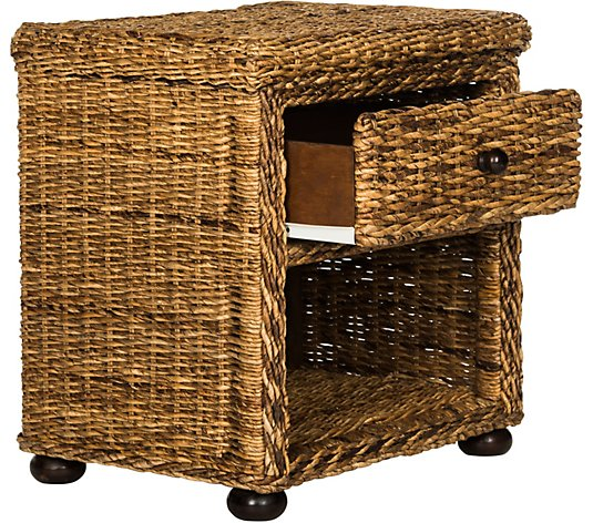 Magi Wicker One-Drawer Nightstand by Valerie
