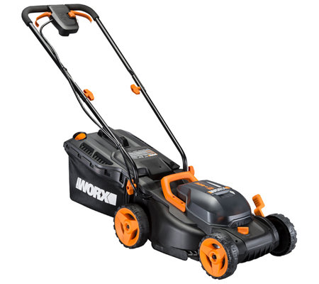 "Worx 40V 14"" Cordless Lawnmower with Two Batteries"