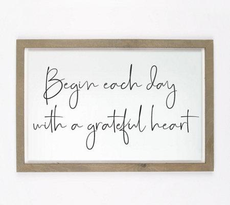 Begin Each Day With A Grateful Heart Wall Art