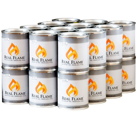 Real Flame Gel Fuel - 13-oz Cans - 24 Pack