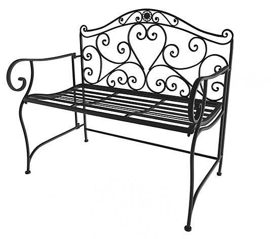 Folding Garden Bench - Scrollwork Design by Hastings Home