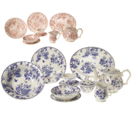 Churchill 45 Piece Toile Dinnerware Set  sc 1 st  QVC.com & Churchill 45 Piece Toile Dinnerware Set u2014 QVC.com