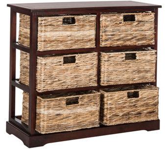 Safavieh Keenan 6 Wicker Basket Storage Chest   H209739