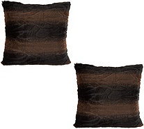 "Dennis Basso Set of 2 18"" x 18"" Faux Fur Pillows - H213139"