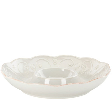 Lenox French Perle  Chip and Dip Bowl
