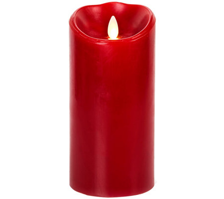 "Luminara 7"" Burgundy Flameless Candle"
