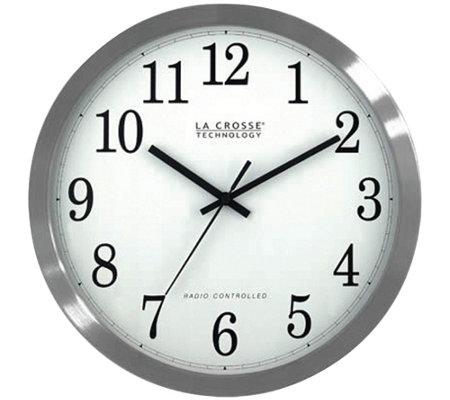 La Crosse 12 Stainless Steel Atomic Wall Clock