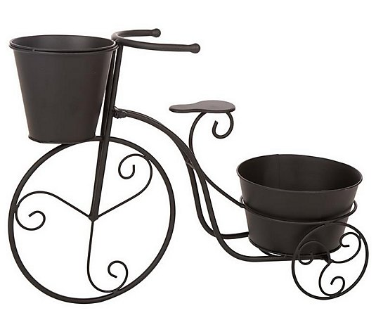 Glitzhome Indoor/Outdoor Rustic Tricycle DoublePlant Stand