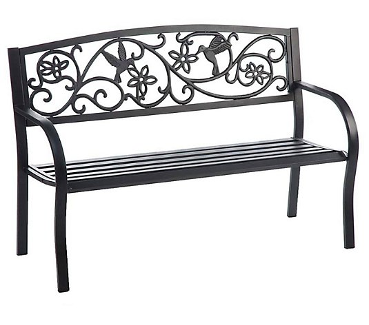 Evergreen Enterprises Hummingbird Metal GardenBench - Black