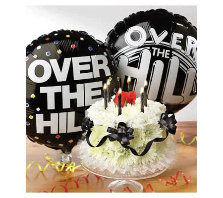 Birthday Flower Cake Balloon By 1 800 Flowers Over The Hill