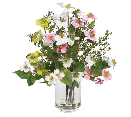 Dogwood Flower Arrangement by Nearly Natural
