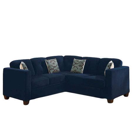Barrow Black Microfiber Sleeper Sectional Sofa