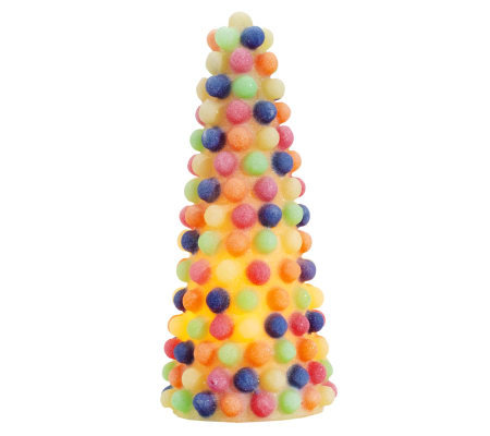 9 flameless gumdrop candy tree with timer by valerie