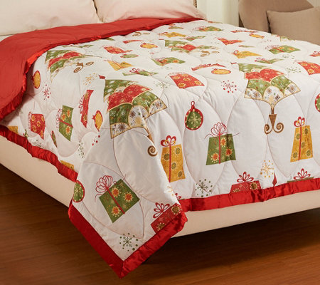 Northern Nights Holiday Cheer 300TC 550 FP Winterweight QN Down Blanket