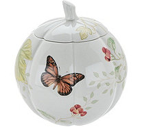 Lenox Butterfly Meadow Harvest Pumpkin Treat Jar - H211840
