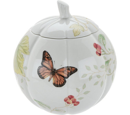 Lenox Butterfly Meadow Harvest Pumpkin Treat Jar