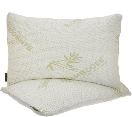 As Is Set 2 Memory Foam King Pillows W Rayon Made From Bamboo