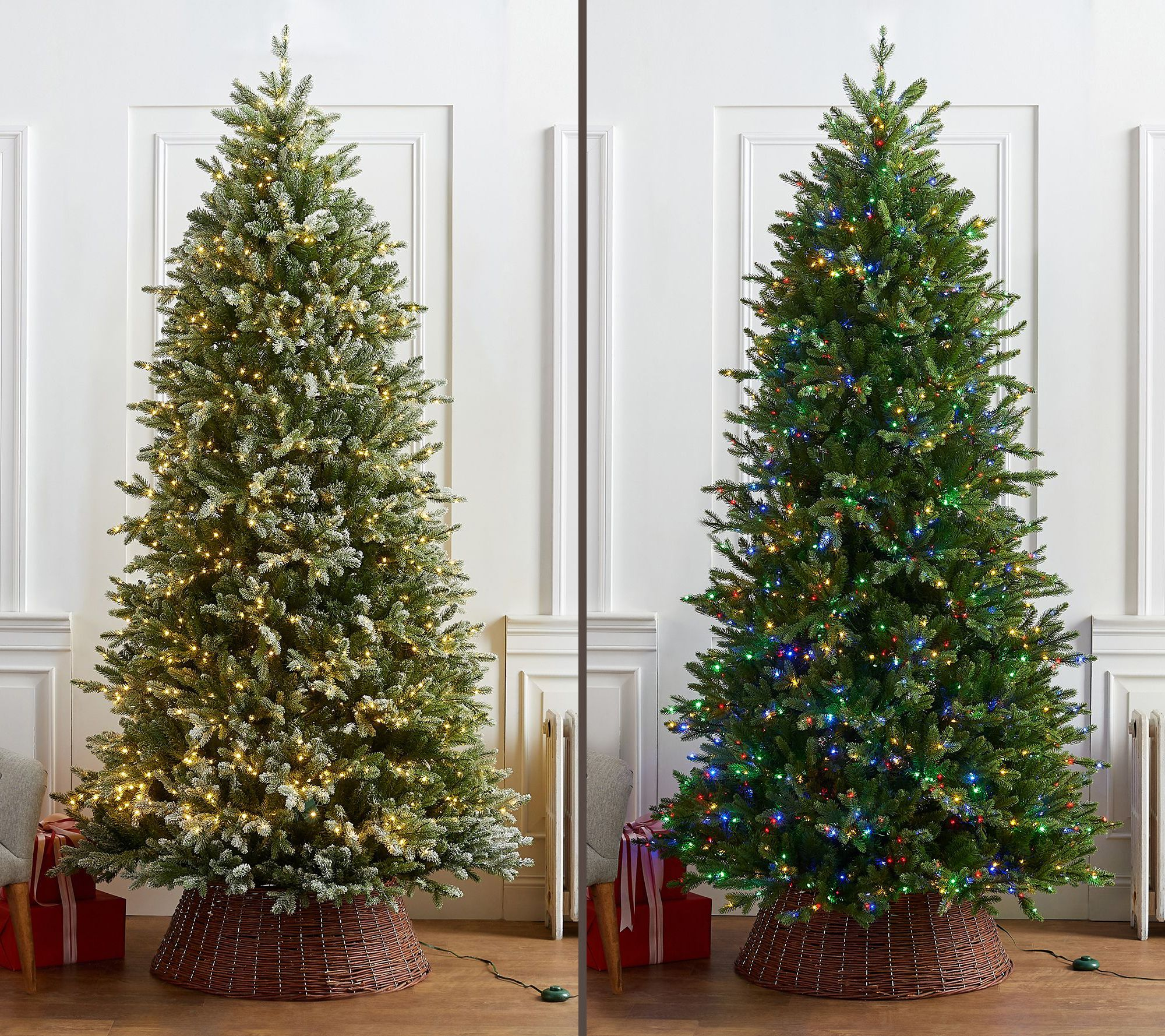 Home Reflections Christmas Tree With Color Flip Fairy Lights Qvc Com